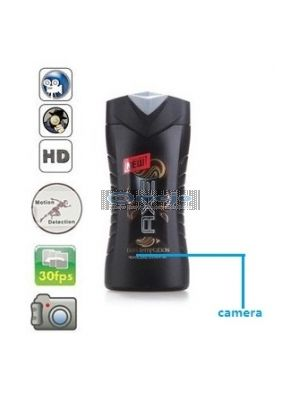 32GB Axe Shampoo Bottle Camera Remote Control On/Off And Motion Detection Record