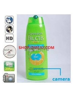 Shampoo Bottle Bathroom Spy Camera DVR Support SD card capacity up to 32GB(Remote Control+Motion Detection)