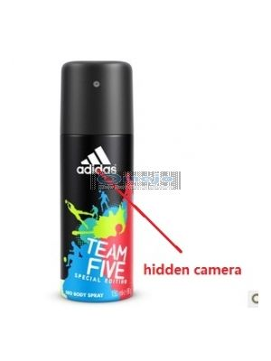 Adidas Men's Body Fragrance Spray Bottle Camera/HD Shower Spy Camera 16GB
