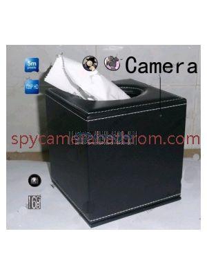 Spy Tissue Box Hidden Hotel room Spy Camera 16GB HD 720P DVR Motion Detection Remote Control On/Off