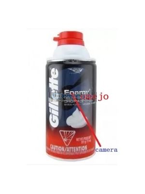 Gillette Shaving Foam Hidden Spy Camera DVR