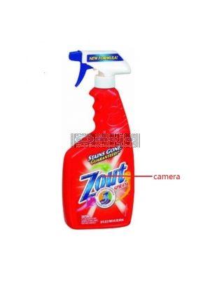 hidden Camera in Zout Spray collar cleaner Bottle Hidden Spy Camera DVR