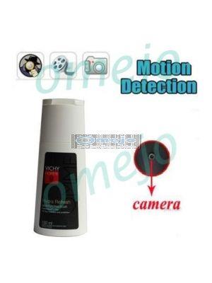 Shower Gel Bottle Motion Detection Pinhole Hidden Camera DVR