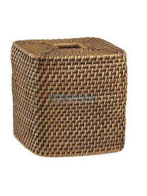 Wicker tissue box cover toilet spy camera