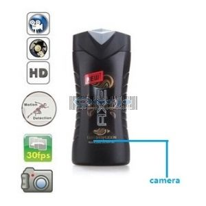 1080P HD Shampoo Bottle Camera Remote Control On/Off And Motion Detection Record 32GB
