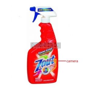 hidden Camera in Zout Spray collar cleaner Bottle Hidden Spy Camera DVR