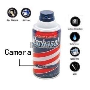 32GB Bathroom Spy Camera Shaving Cream Hidden Camera Motion Activated DVR HD 720P Remote Control