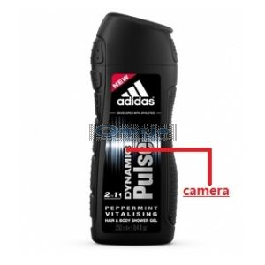 HD 1080P Camera 32GB Adidas Shampoo Bottle Camera Remote Control On/Off And Motion Detection Record