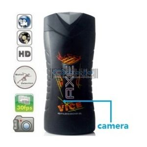 HD Shower Gel Bottle Camera Hidden Bathroom Camera DVR