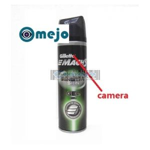 Motion Activated Shaving Cream Hidden Remote Control Bathroom Spy Camera DVR